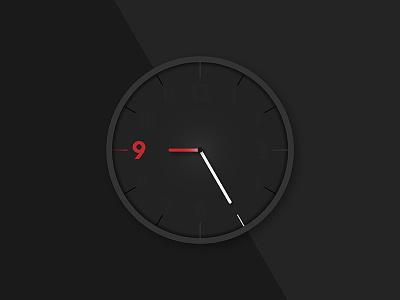Rebound - Day 072 - Clock digital analog hour minute clock smartwatch ui