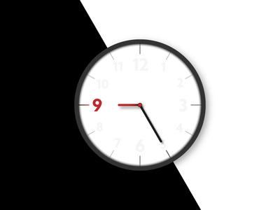 Rebound - Day 072 - Clock Light hand hour light minimal watch clock