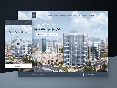 Oakland's New View — 601citycenter.com real estate oakland responsive mobile website