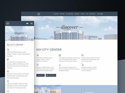 Discover —601 City Center foundation responsive design oakland responsive website