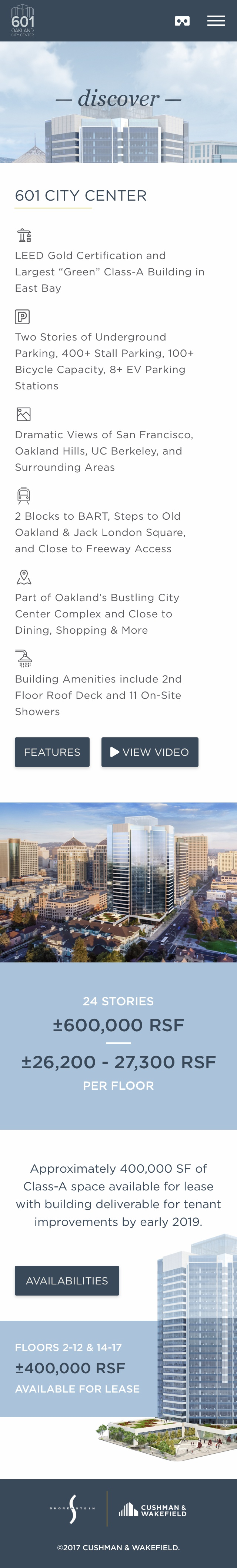 601citycenter discoverpage mobile