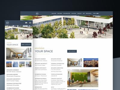 Envision Your Space — 601citycenter.com oakland responsive design responsive web design website