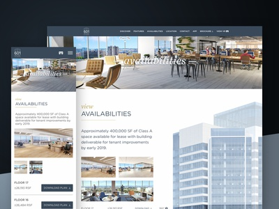 View Availabilities — 601citycenter.com foundation real estate oakland responsive responsive design website