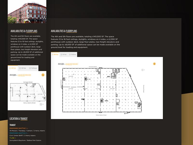 2 Henry Adams —Availabilities and Floor Plans foundation tabs responsive website web design