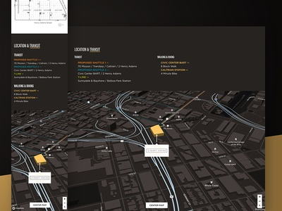 2 Henry Adams — Location & Transit foundation 3d maps maps mapbox web design website