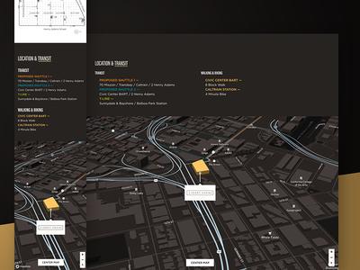 2 Henry Adams —Location & Transit foundation 3d maps maps mapbox web design website