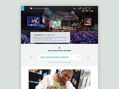 The Columbus Foundation Homepage ohio columbus foundation website homepage