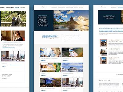 Travel Agent Membership Website travel agency homepage website membership travel