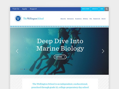 The Wellington School Homepage education header slider hero website homepage