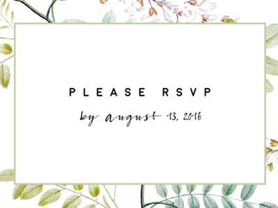 RSVP Card Preview wedding botanical invitation rsvp