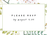RSVP Card Preview