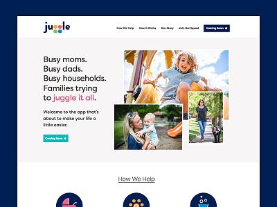 Juggle App Website homepage app app website landing page website