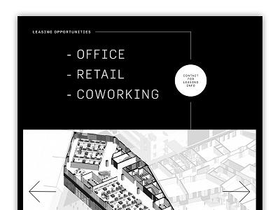 Property Website digital design ui coworking retail office microsite website
