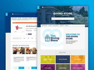 The Giving Store: A One-Stop-Shop for Philanthropy philanthropy nonprofit search profile web design ux ui ecommerce web application website
