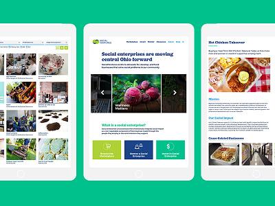 SocialVentures business homepage marketplace profile ux ui website