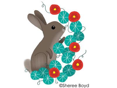 Nasturtiums spring easter flowers nasturiums bunny