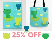 Society6 frogs