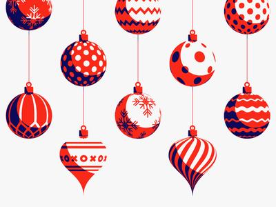 Season's Greetings illustration greeting card seasons greetings winter ornaments holidays christmas