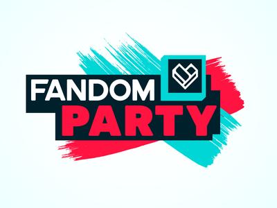 FANDOM Party Logo 3d brand branding identity logo fandom