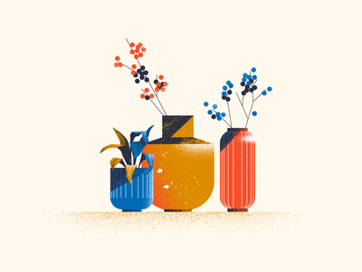 Pots & Vases plants vase pot illustration