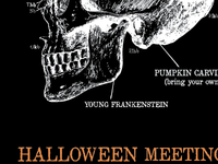 Poster for AIGA Halloween meeting.