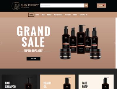 Hair grooming E-commerce Landing page branding brand identity landing page ux ui website design