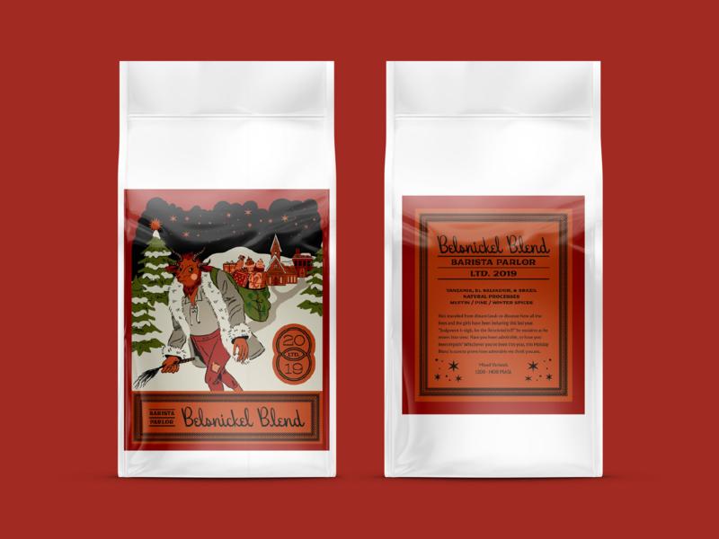 Belsnickel nashville hoodzpah vector design branding illustration logo coffee