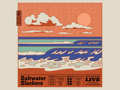 Adobe x Hoodzpah Personal Project Tutorial: Saltwater Slackers oceans sand sun hoodzpah california sunset wave ocean adobe texture illustration pattern