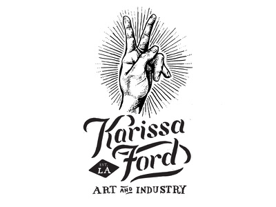 Karissa Ford Logo Mockup B logo hand hand drawn black magic occult shine branding