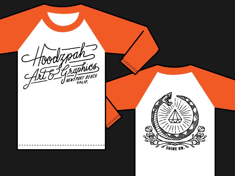 Hoodzpah Baseball Tees Mockup A Tshirt Tee Snake Poppies Diamond Hand Drawn Script