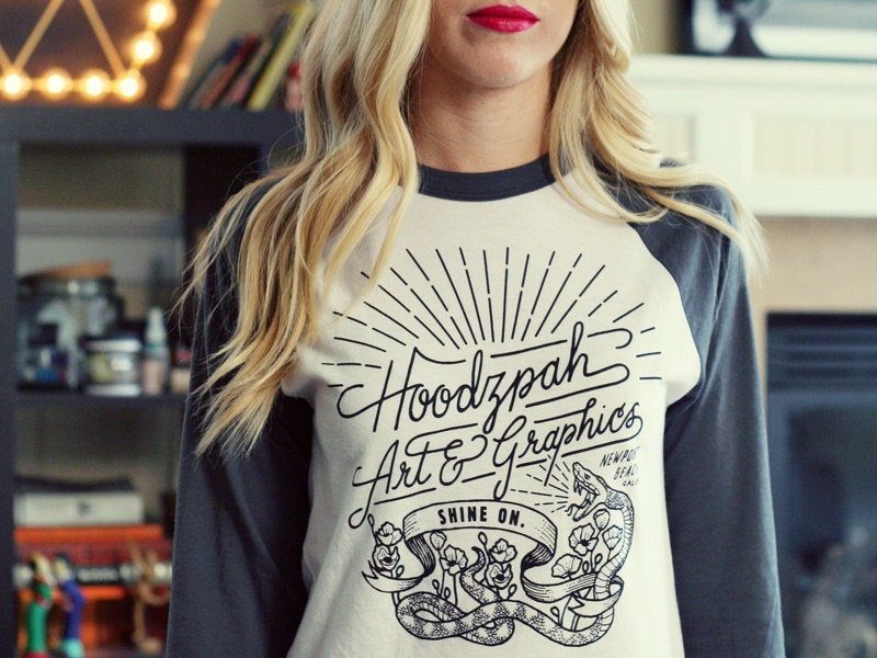 Hoodzpah Baseball T-Shirt - Available Now! tee baseball snake hoodzpah poppies shirt t-shirt raglan