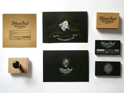 Karissa Ford Logo & Branding Package logo branding hand drawn illustration hand ship industrial whimsical vintage