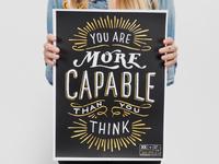 """""""More Capable"""" Krochet Kids Poster"""