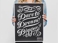 Dream Bigger Krochet Kids Poster