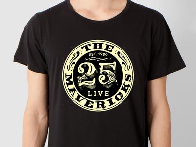 Mavericks Live 25 Logo