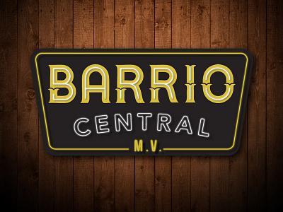 Barrio Central Logo - Neon Sign logo sign neon mexican retro signage restaurant hoodzpah