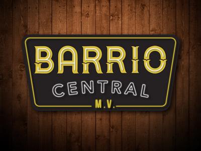 Barrio Central Logo - Neon Sign