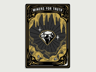 "Hoodzpah ""Miners for Truth"" Card Illustration"