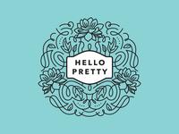 Hello Pretty Logo Mockup
