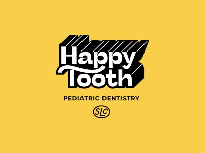 Happy Tooth Pediatric Dentistry Branding mascot typography art layout design logo system dentist visual identity hood fonts type brand identity illustration hoodzpah logo branding