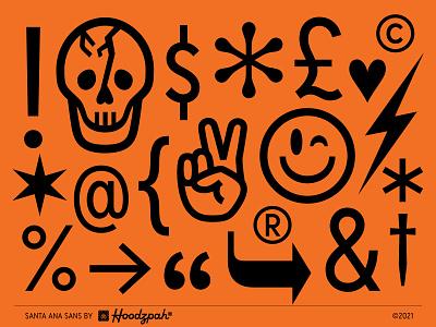 Santa Ana Sans retro hoodzpah custom type custom font font design font type design typeface type