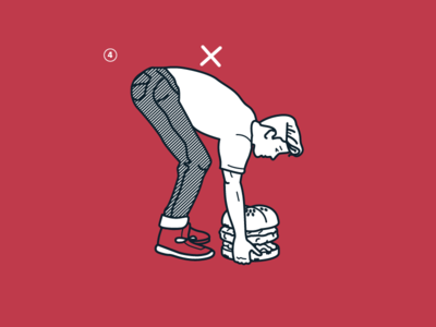 Lift With Your Buns Illustration