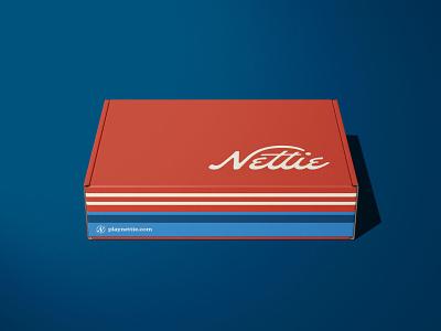 Nettie — Pickleball Brand Identity visual identity brand identity logo design custom type typography type design graphic design design hoodzpah branding illustration logo