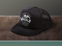 Hoodzpah hotwheels trucker hat and tee