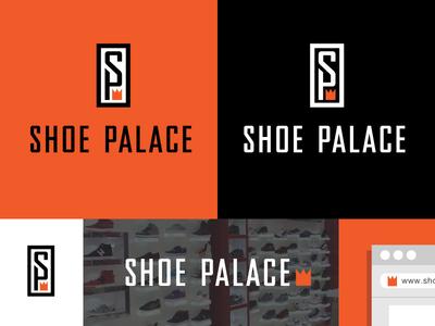 Shoe Palace Logo A logo branding sports athletics apparel urban youth hip hop crown