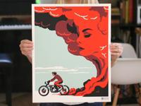 Road Beckons Screen Print Poster
