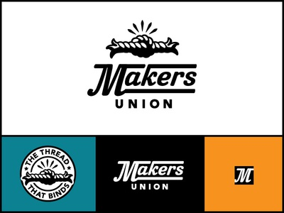 Makers Union Logo B logo brand mark knot tie vintage retro bold seal icon