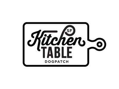 Kitchen Table Sf Logo A logo branding restaurant fresh organic script cooking food typography