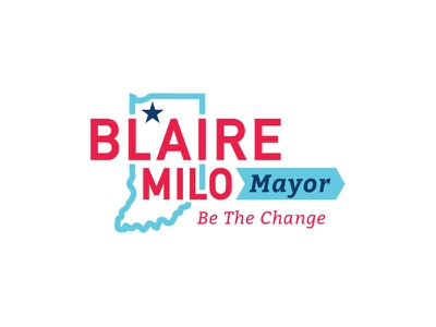 Milo Logo logo political mayor indiana america government bold young.