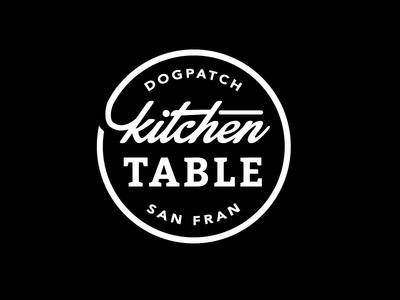 Kitchen Table Seal Logo logo seal brand food dining restaurant script slab